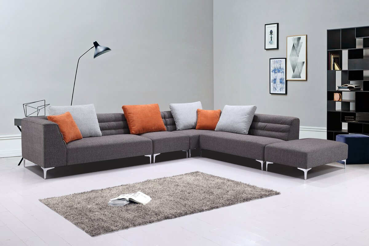 Uyen Versatile Living Room Modular Sectional & Reviews   AllModern