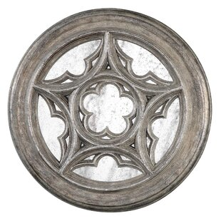 One Allium Way Antique Star Medallion Wall Mirror
