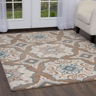 Natural Cerulean Blue Taupe Area Rug