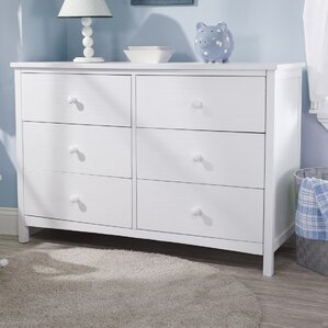 Simple 6 Drawer Double Dresser by Sorelle