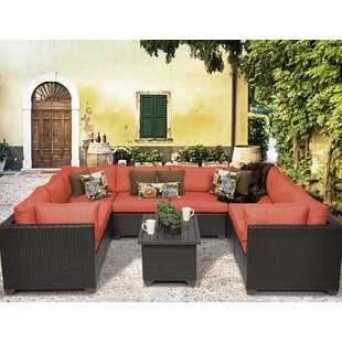 Belle 9 Piece Sectional Set with Cushions