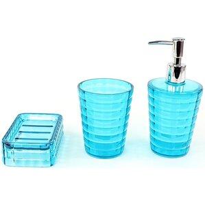 teal bathroom accessories. Glady 3 Piece Bathroom Accessory Set Teal Accessories  Wayfair