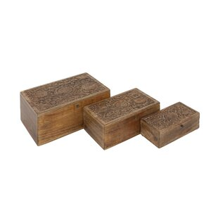 Wooden Box With Handle Wayfair