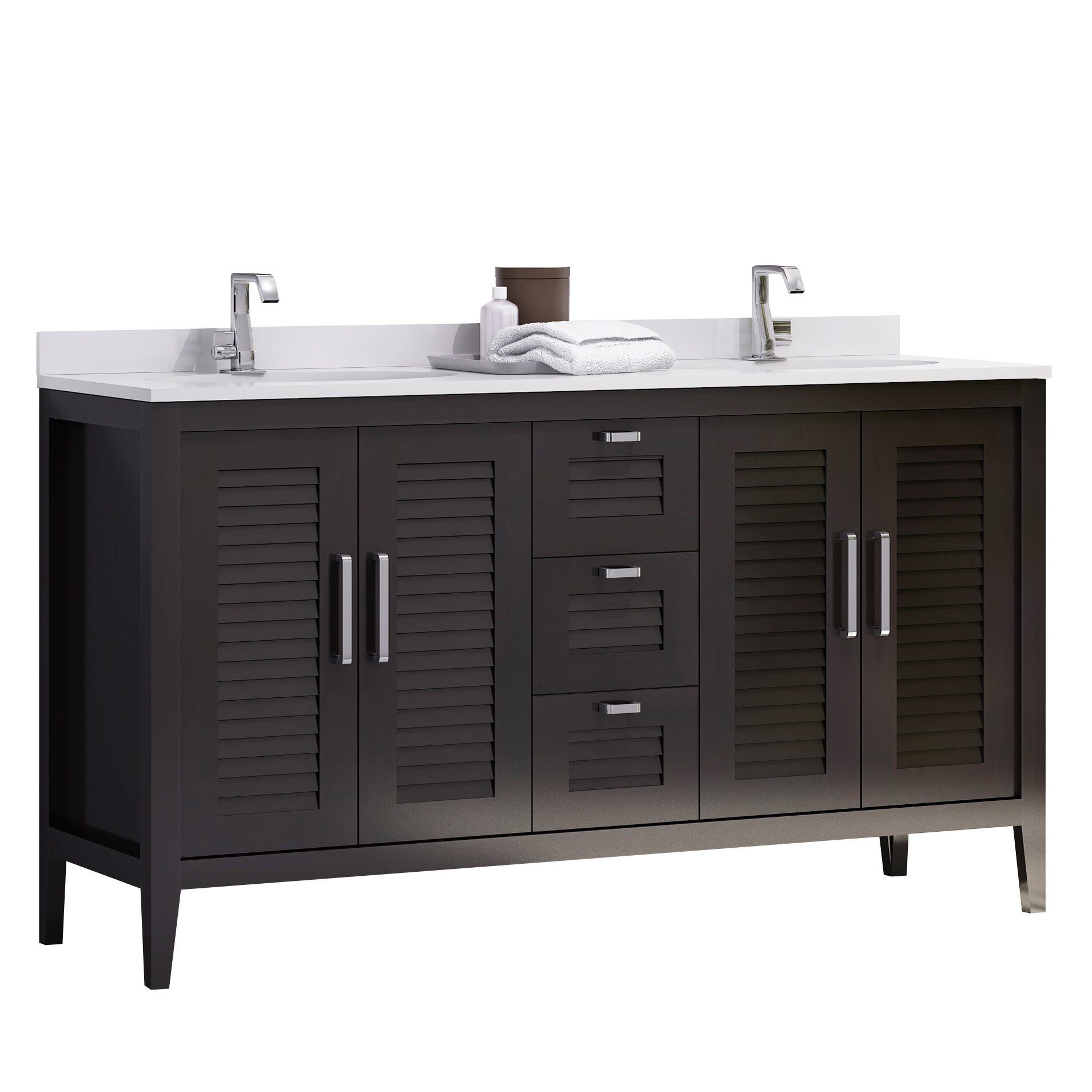 Double Sink Master Bathroom Vanity Set
