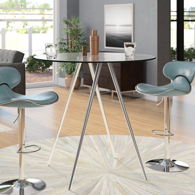 White Cane Outdoor Furniture, Orren Ellis Cavanagh Counter Height Dining Table Reviews Wayfair
