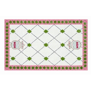 Best Hand-Hooked White Area Rug By The Conestoga Trading Co.