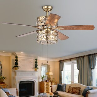 Price comparison Mcgary 3-Light LED Ceiling Fan By House of Hampton