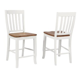 Tiemann Rake Back 24 Bar Stool (Set of 2) August Grove