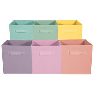Shopping for Foldable Storage Cube Basket Fabric Bin (Set of 6) By Rebrilliant