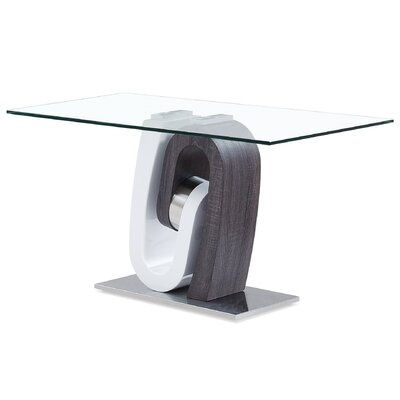 Ultra-modern Console Table With Glass Top By Global Furniture Decor+