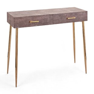 Coker Dusty Rose Stainless Steel Console Table