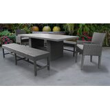 Fernando 5 Piece Dining Set with Cushions