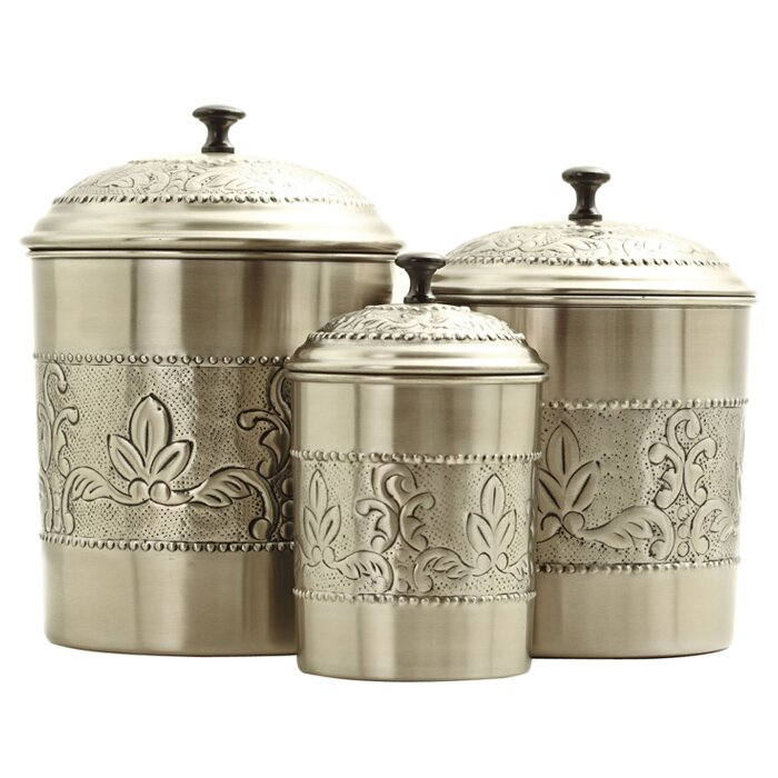Victoria 3 Piece Kitchen Canister Set