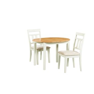 Shippy 3 Piece Extendable Solid Wood Dining Set by August Grove Modernt