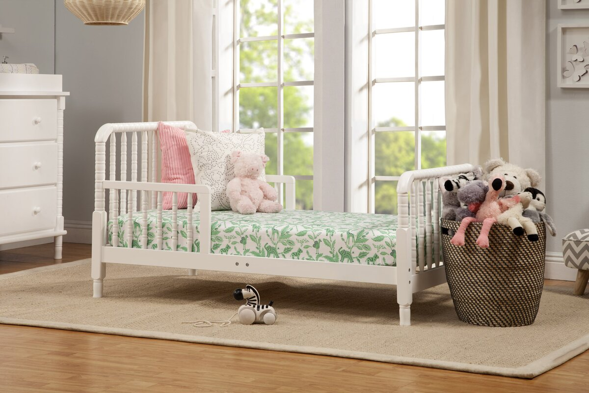 Contemporary white wooden jenny lind crib for your baby to sleep - Default_name