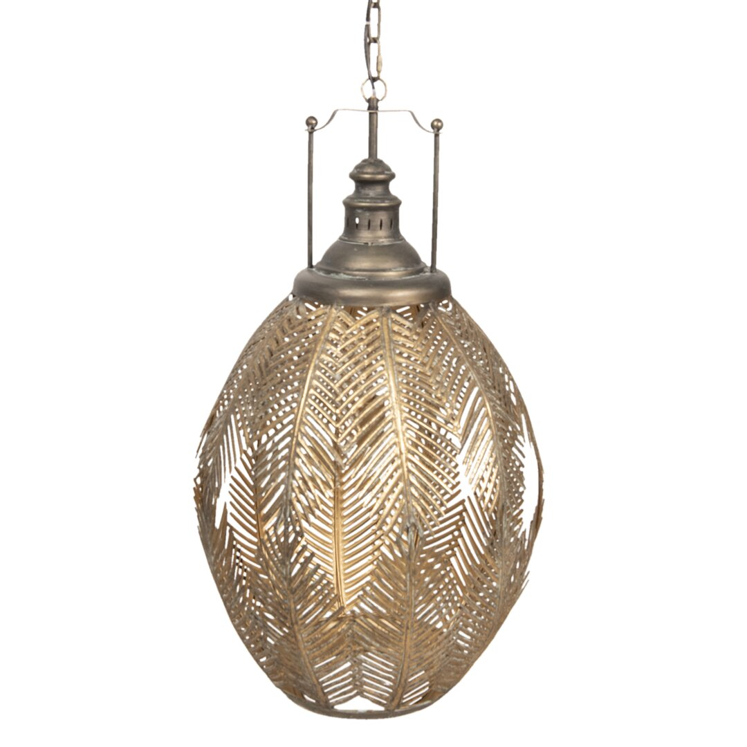 Felice 1-Light Lantern Geometric Pendant