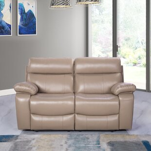 Look for Mellor Leather Reclining Loveseat By Red Barrel Studio