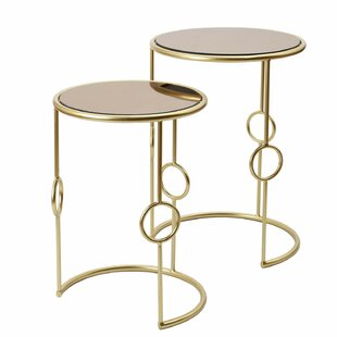 Valencia Decorative Round 2 Piece Nesting Tables Mercer41