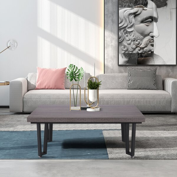 George Oliver Industrial Design Coffee Table For Living ...