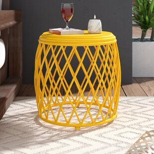 Reviews Quigley Outdoor Iron End Table ByWrought Studio