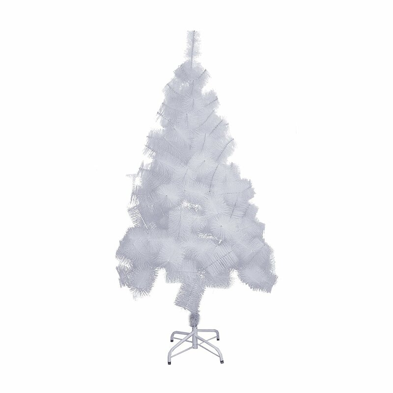 snow 5 white pine artificial christmas tree with metal stand - Metal Christmas Decoration Stand