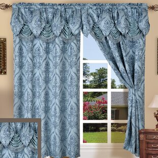 Heideman Damask Room Darkening Rod Pocket Panel Pair (Set of 2) by Astoria Grand