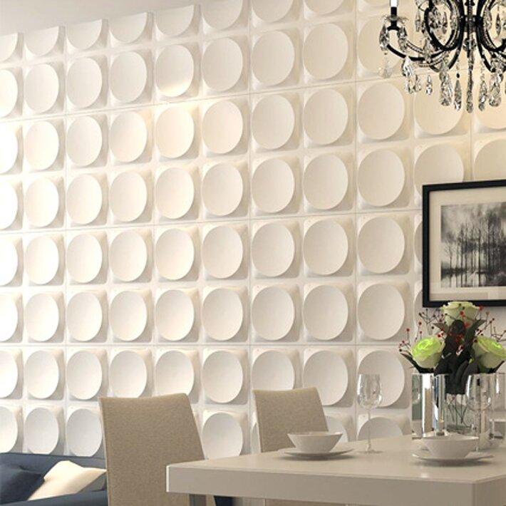 Orren Ellis Dishner 19 7 X 19 7 Vinyl Wall Paneling In White Reviews Wayfair