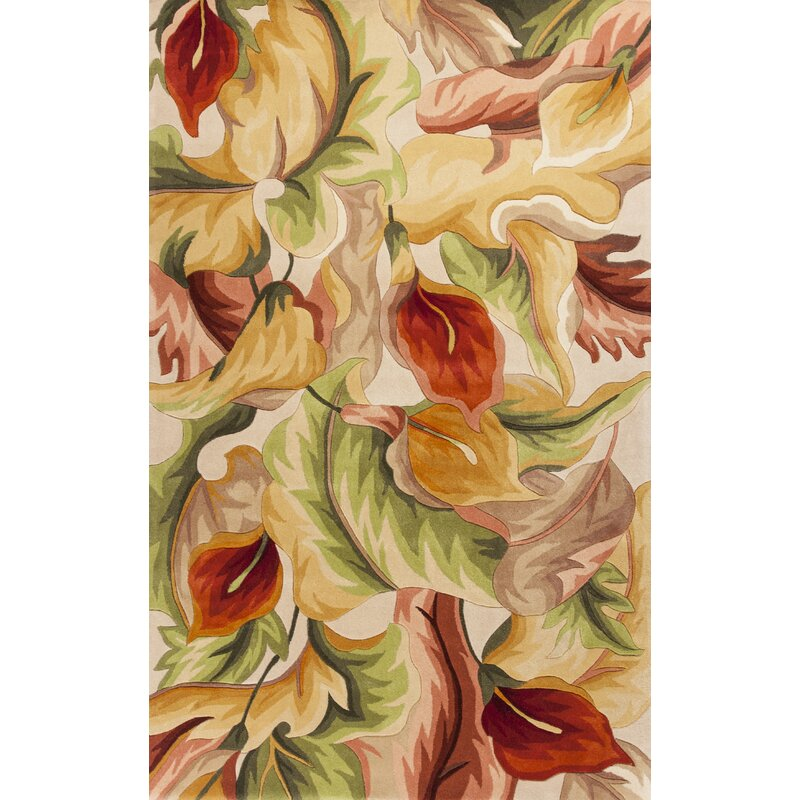 Ellicott Ivory Calla Lillies Rug