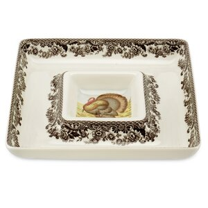 Woodland Square Chip & Dip Tray