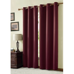 Tamara Solid Max Blackout Grommet Single Curtain Panel