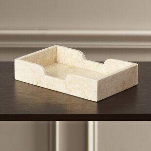 North York Marble Guest Towel Tray Set Of 2
