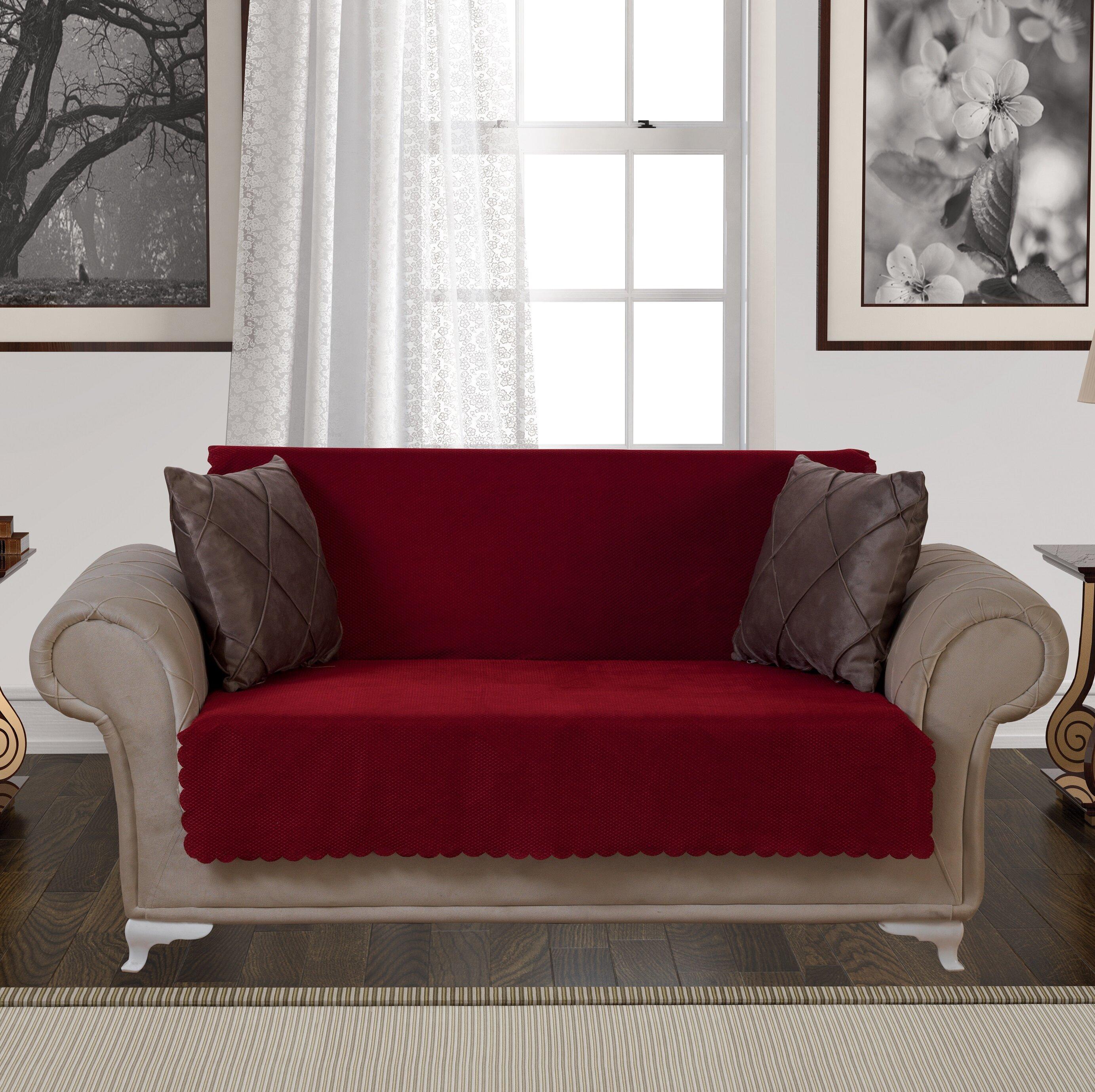 August Grove Diamond Anti-Slip Pet Furniture Protector Box T-Cushion  Loveseat Slipcover   Reviews  55a08090ff17