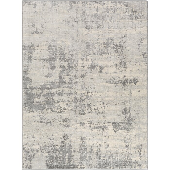 Manzanares Abstract Beige/Gray/Blue Area Rug