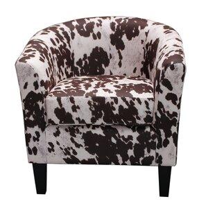 Cow Spot Print Barrel Chair