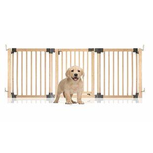 Avalyn Wooden Multi Panel Wall Mounted Pet Gate by HoneyBee Nursery