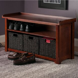 Murdock 4 Piece Wood Storage Bench Set