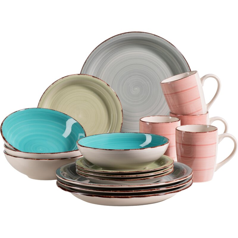 Brambly Cottage Eowyn 16 Piece Dinnerware Set Service For 4 Reviews Wayfair Co Uk