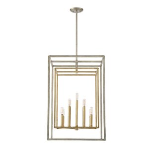 Reviews Eglantina 9-Light Square/Rectangle Pendant By Willa Arlo Interiors