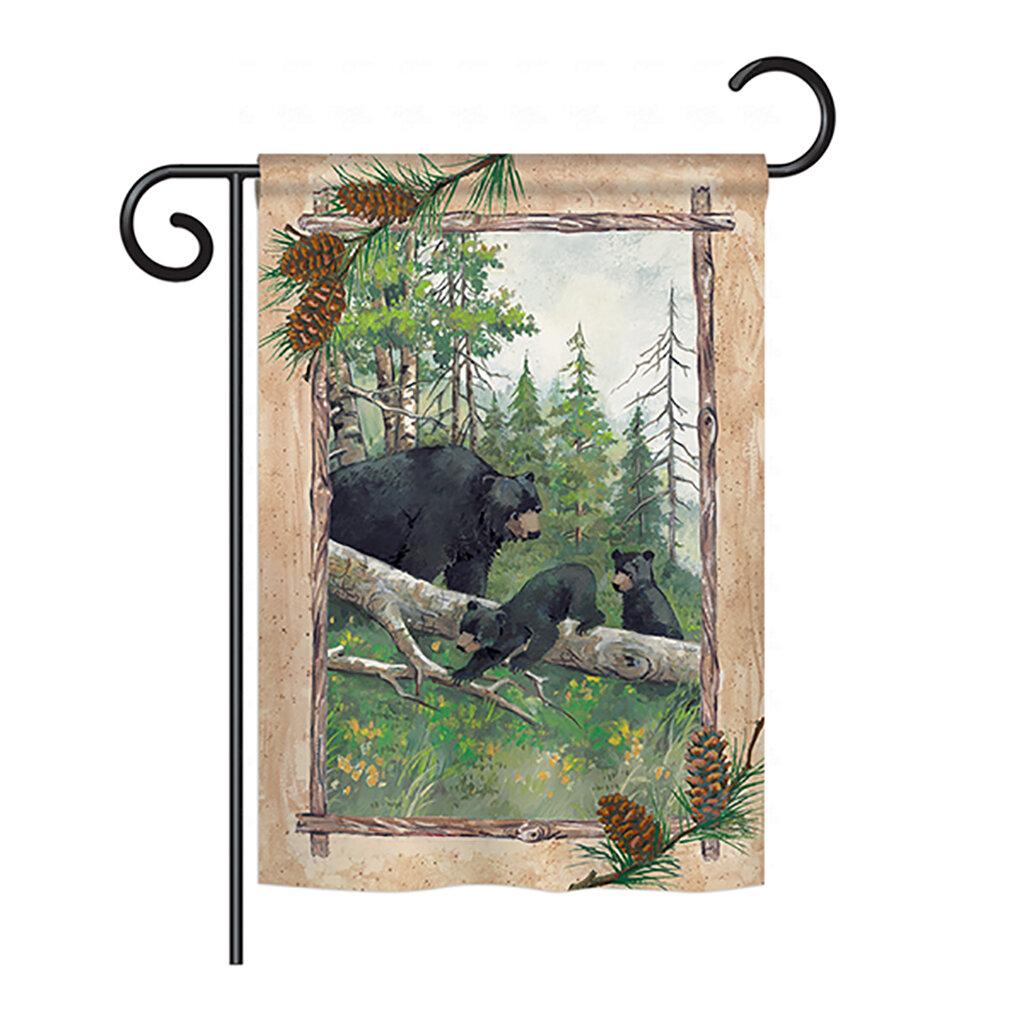 Breeze Decor Black Bear And Cubs 2 Sided Polyester House Flag Wayfair