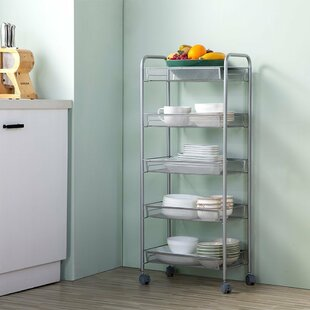 Look for Diane 5-Tier Storage Mesh Rolling Steel Baker's Rack Price & Reviews
