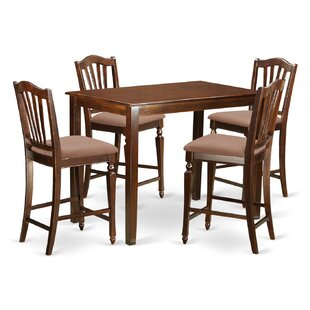Yarmouth 5 Piece Counter Height Pub Table Set East West Furniture