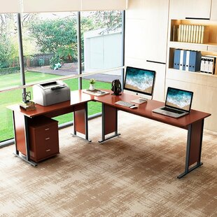 Best Review Granville Reversible L-Shaped Computer Desk (Set of 3) By Symple Stuff