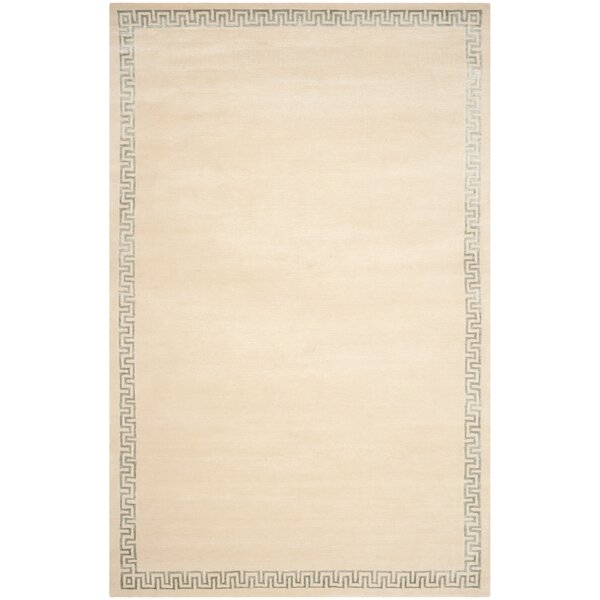 House Of Hampton Exmouth Hand Knotted Wool Silk Beige Area Rug Wayfair