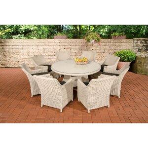 8-Sitzer Gartengarnitur Manaslu mit Polster von Home & Haus