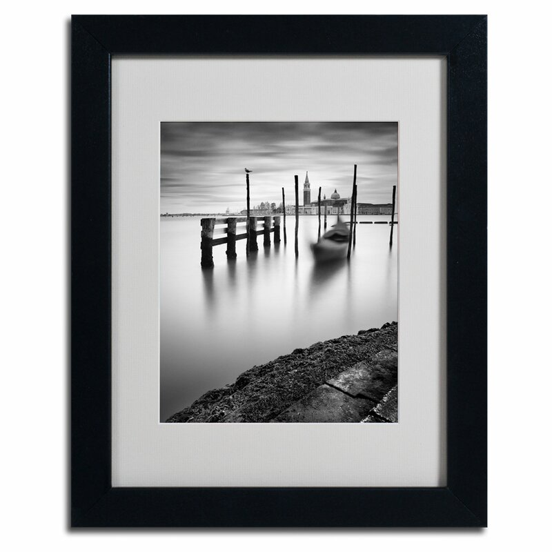 Trademark Art Venice Canal Grande By Nina Papiorek Framed Photographic Print Wayfair