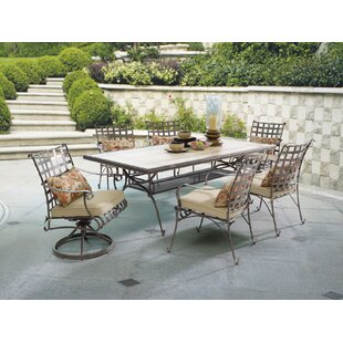 Antoine Swivel Patio Dining Chair with Cushion (Set of 2)