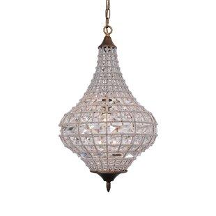 Crystal teardrop chandelier wayfair quill teardrop empire chandelier aloadofball Images
