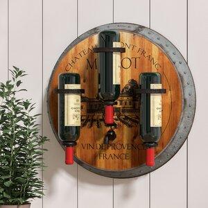 Eden Merlot 3 Bottle Wall Mounted Wine Rack