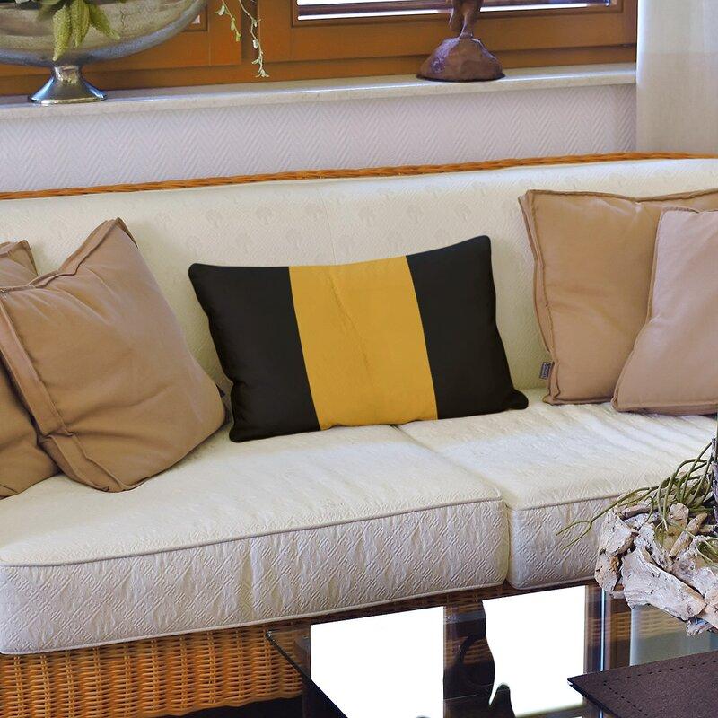 East Urban Home Los Angeles La Basketball Linen Striped Lumbar Pillow Wayfair