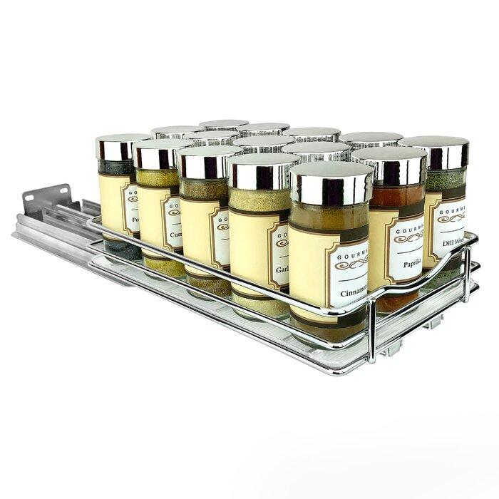 Slide Out Upper Cabinet Organizer 15 Jar Spice Rack
